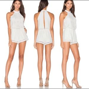 LOVERS + FRIENDS Your Girl Beaded Ivory Romper